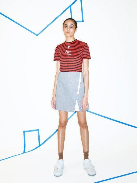 _SCAPES NY Indigo Stripe Planting Skirt