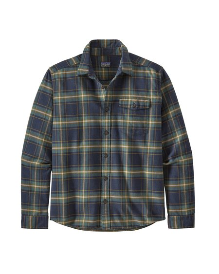Camisa Ms LS Lightweight Fjord Flannel Shirt - Lawrence New Navy