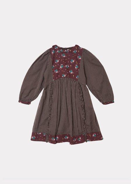 Kids Caramel Earth Dress - Brown Thistle Print