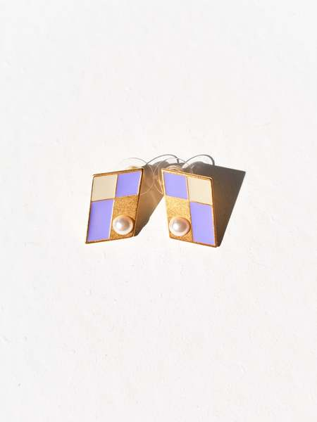 MATTER MATTERS Kite Studs - Lilac/Pearl