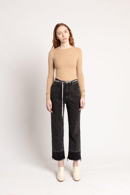 Organic by John Patrick Camel Long Sleeve Rib Pullover