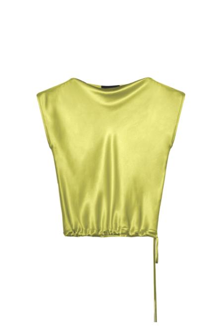 KES Salacia Cap Sleeve Blouse - Acid Lime