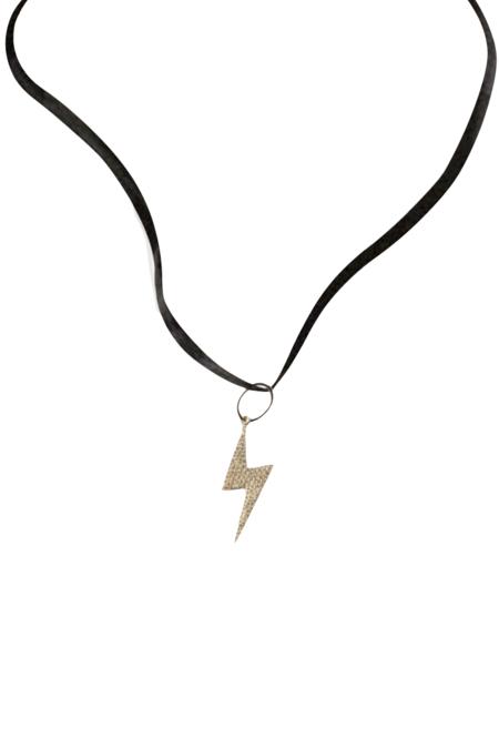 KES x LoveRocks Pave Diam Lighting Bolt jewelry - 14K GOLD