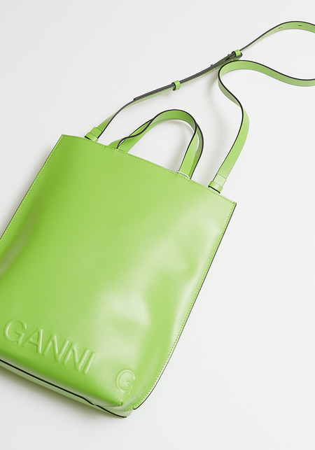 Ganni Banner Tote - Flash Green