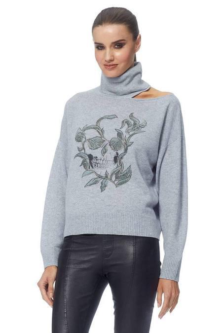 360 Cashmere Goldie Sweater - Heather Blue