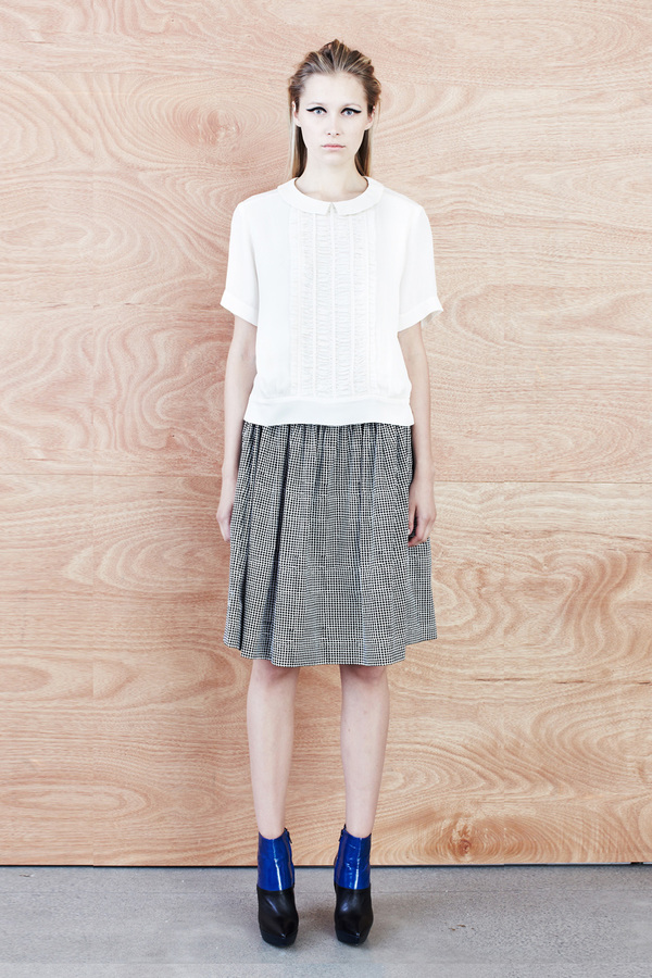 Karen Walker Shirred Waist Skirt