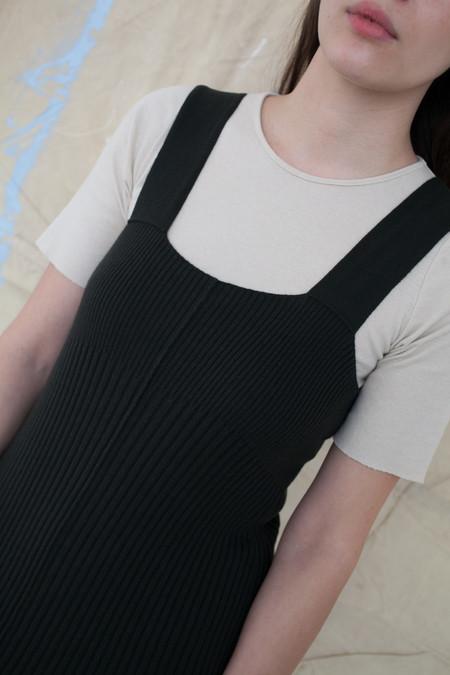 Lauren Manoogian Rib Dress in Pine Black