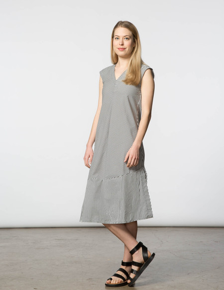SBJ Austin Winny Dress - Black & White Stripe