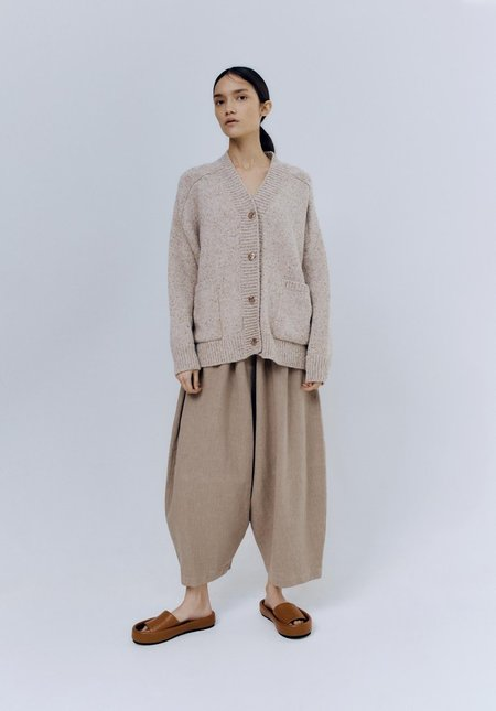 Mónica Cordera Soft Wool Cardigan - Taupe