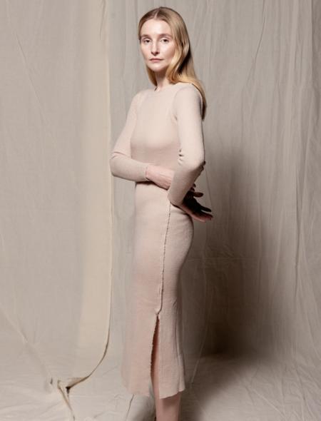 Gudrun&Gudrun wool dress 100% Eco Wool Bina Dress - NATURAL
