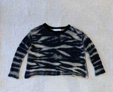 Viviana Uchitel 100% Cashmere Sweater - Light Animal Black Olean