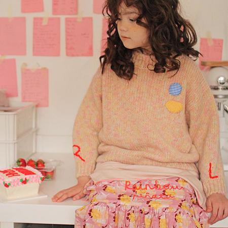 Kids Tambere Child Annie Sweater - Orange Mix