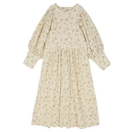 Kids Tambere Child Cora Dress - Cream Floral Print