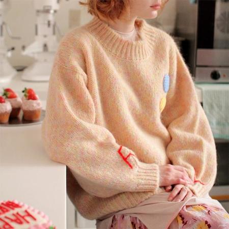 Tambere Woman Annie Sweater - Orange Mix