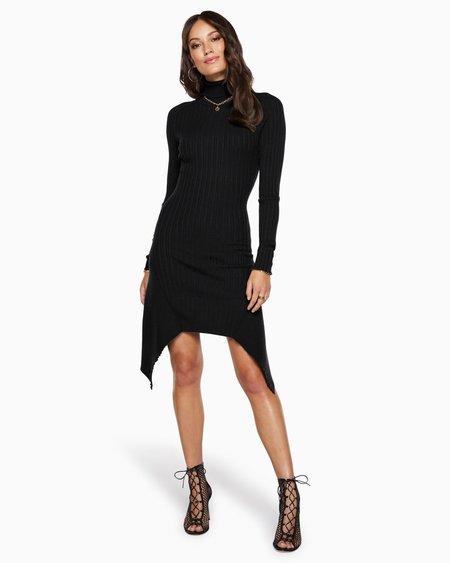Ramy Brook Miley Turtleneck Dress - black