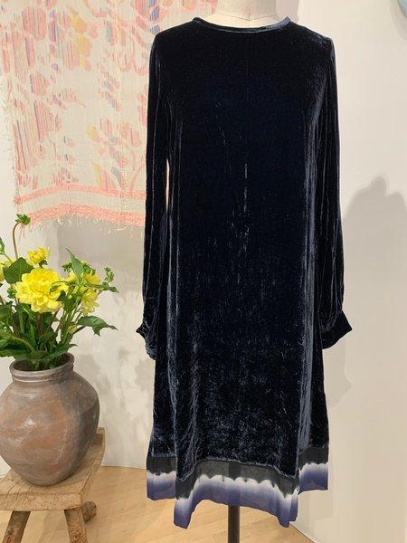 Viviana Uchitel silk dress 100% Silk Velvet Dress - Blue