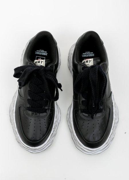 Mihara Yasuhiro Original Distressed Effect Sole Leather Sneaker - Black