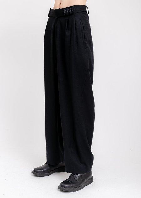 Hyein Seo Wool Wide Pants - Black