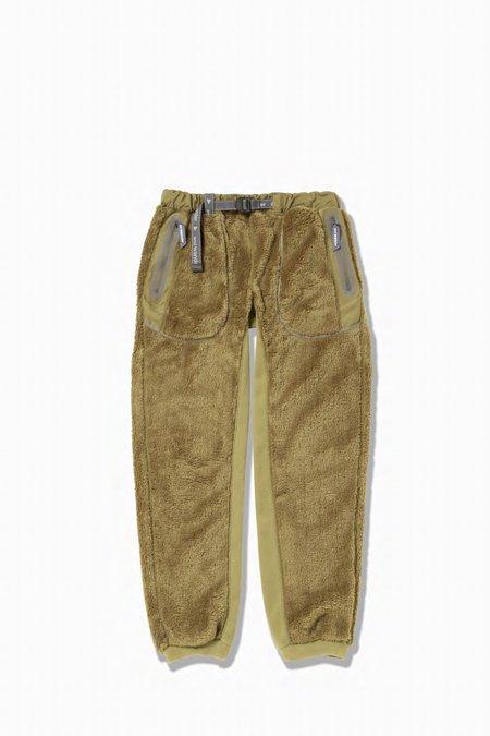 And Wander High Loft Fleece Pants - Beige