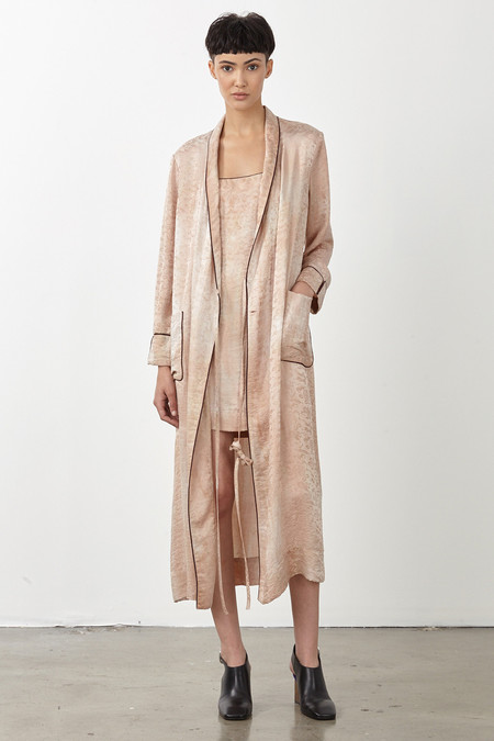 Raquel Allegra DESERT SILK DAMASK ROBE DRESS