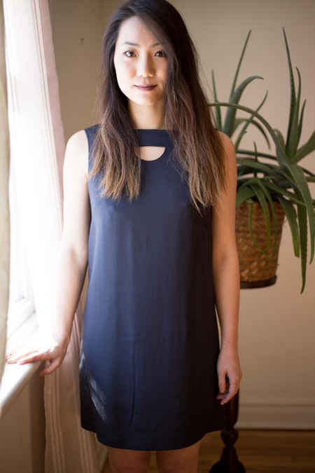 Birds of North America Hermit Dress - Slate