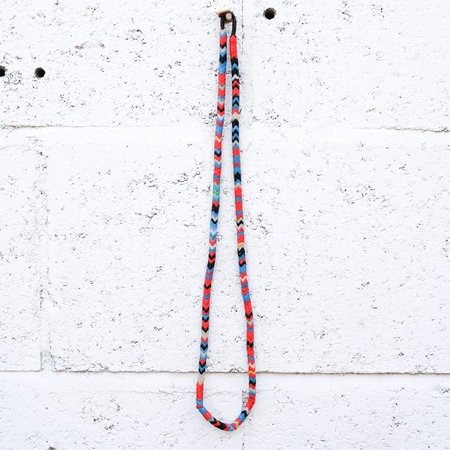 Made Solid Antique African Snake Bead Necklace - Multi-Color