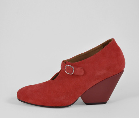 The Palatines Shoes inesco mary jane w sculpted heel -  cadmium suede