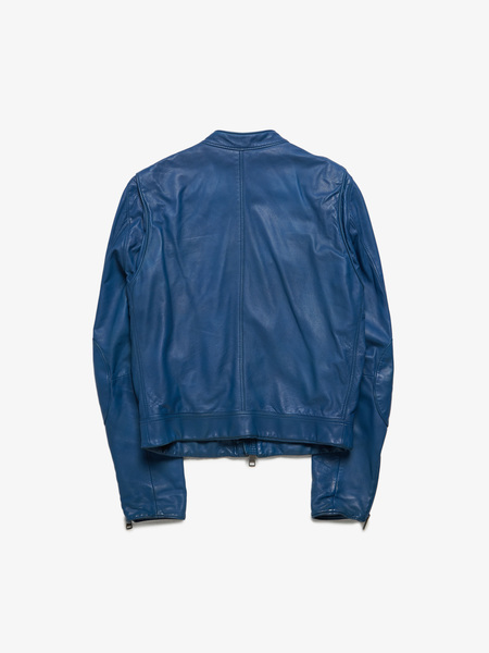 Burberry M Blue Leather Jacket