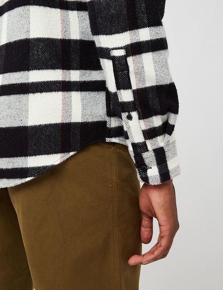 Portuguese Flannel Bonefire Flannel Shirt - Black/White