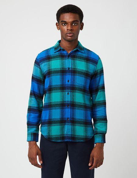 Portuguese Flannel Unic Check Shirt - Blue