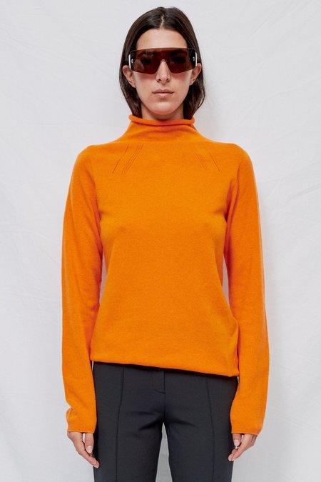 The Loom Mandarin Orange Cashmere Blend Turtleneck Sweater - Orange