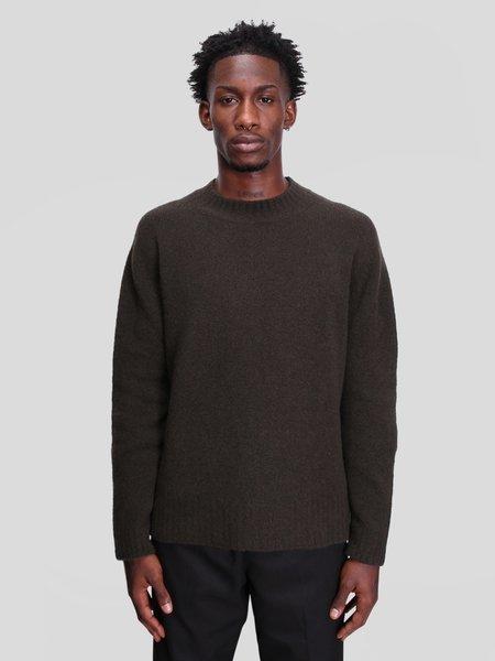 Schnayderman's Crewneck Seamless Wool Cashmere Sweater - Dark Green