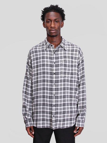 Schnayderman's Non-Binary Viscose Wool Check Shirt - Black/Gray