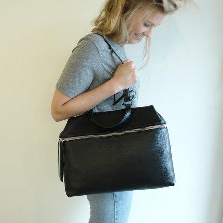 KARA pebble leather satchel