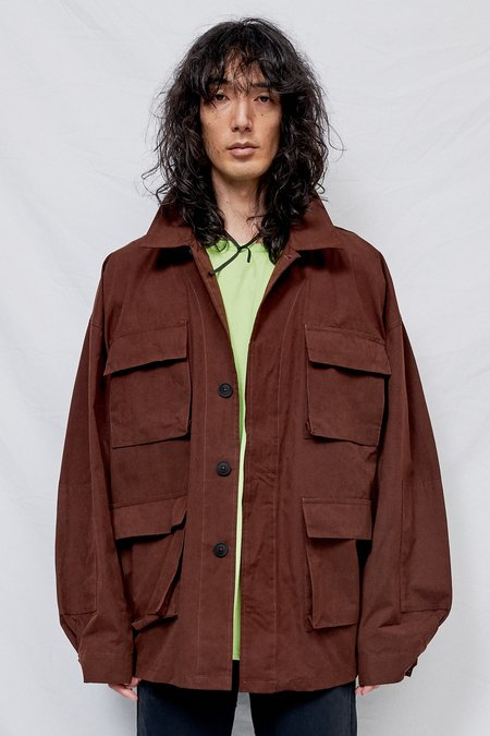Schnayderman's Oversized Army Jacket - Burnt Umber