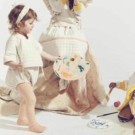 Tia Cibani Kids Baby Sac Romper - Opal Cream
