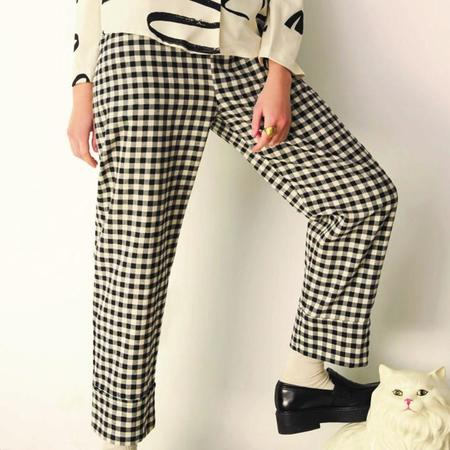 Eve Gravel Cohen Pants - Black/Cream