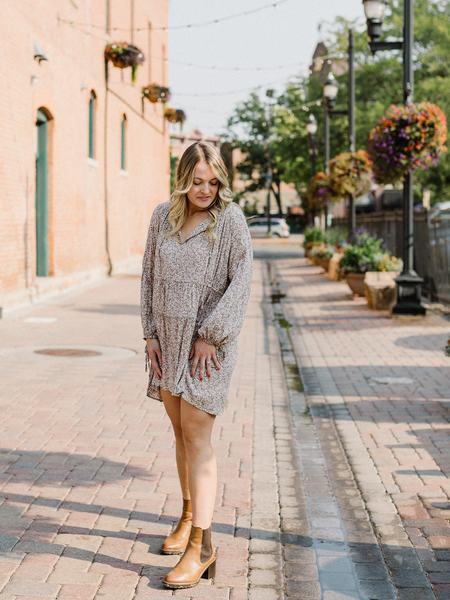 Lilya Dee Dress - Botany Khaki