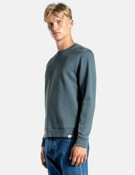 Norse Projects Vagn Classic Crew Sweatshirt - Mineral Blue