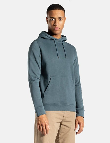 Norse Projects Vagn Classic Hooded Sweatshirt - Mineral Blue