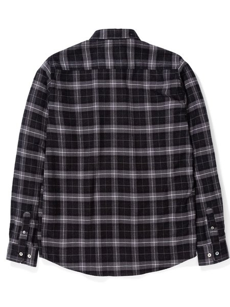 Norse Projects Anton Brushed Flannel Shirt - Charcoal Melange