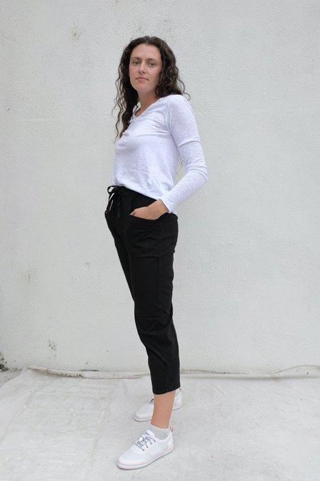 Stateside Heavy Cotton Jersey Dropcrotch Pant - Black