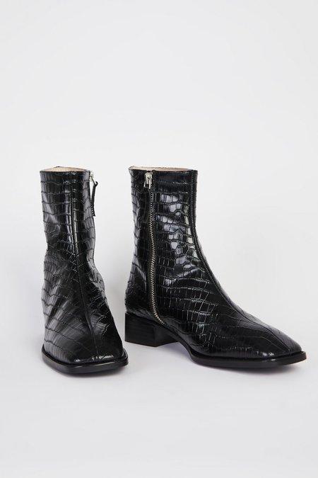 """""""INTENTIONALLY __________."""" TOUR shoes - Black Croc"""