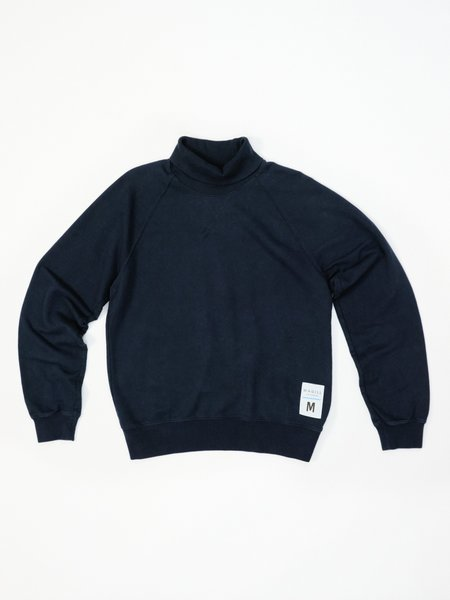 MAGILL CHARLES FRENCH TERRY TURTLENECK - NAVY