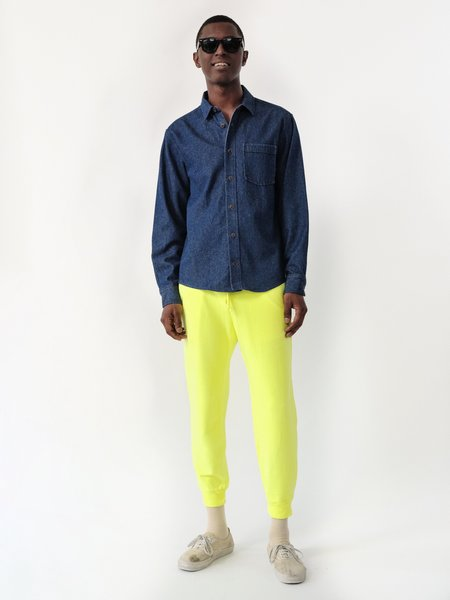MAGILL EASTON FRENCH TERRY SWEATPANTS - NEON YELLOW
