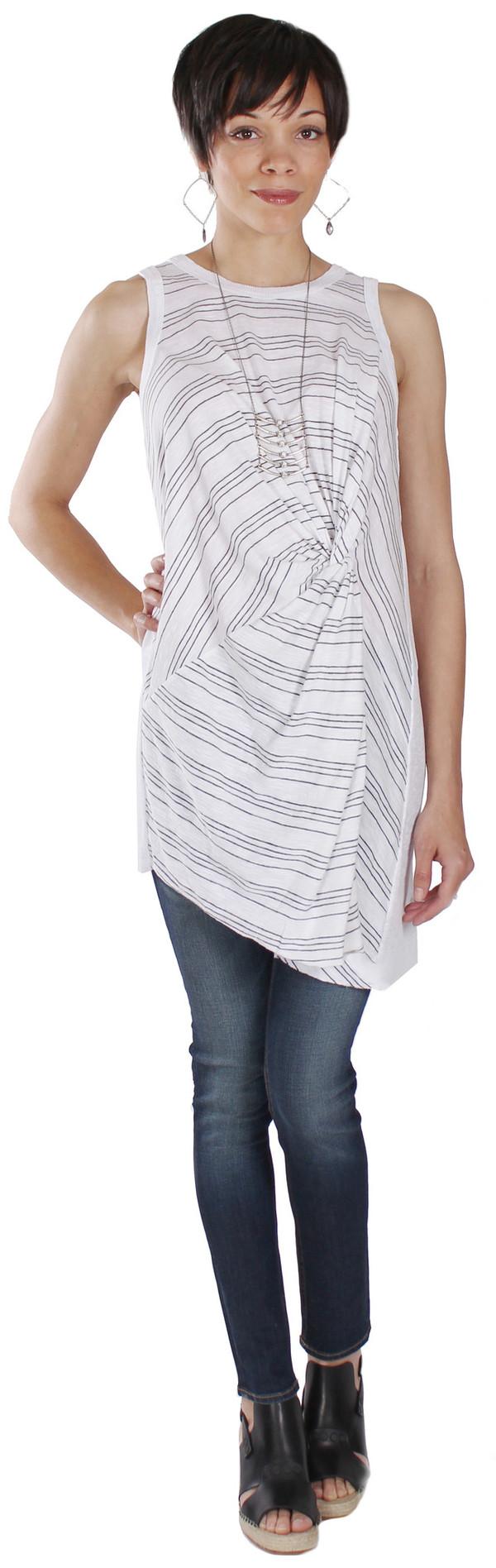 Tina + Jo Stripe Twist Tunic