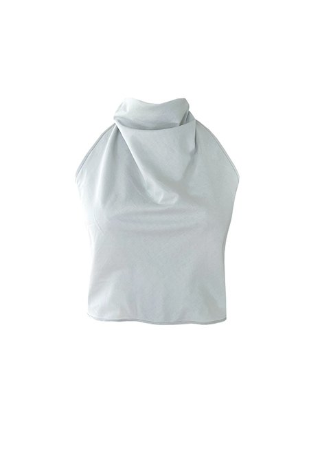 Angie Bauer Riviere Top - sky blue cotton