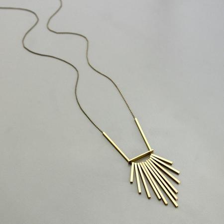David Aubrey Inc 11 Brass Bras Necklace - Brass