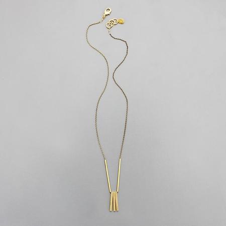 David Aubrey Inc Trio Bar Necklace - Brass