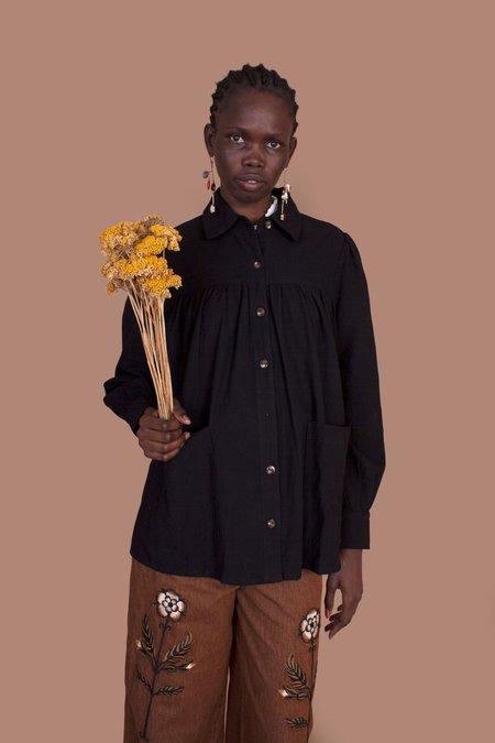 Meadows Artist's Shirt - Black